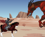 Chevalier Et Dragon