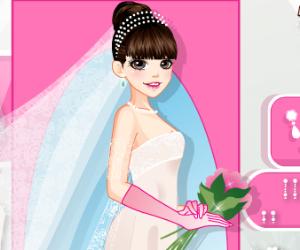 Gorgeous Bride Dress Up