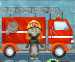 Talking Tom Fire Truck Washing